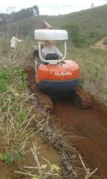 Mini escavadeira kubota