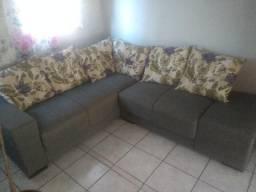Lindo sofá de canto de 5 lugares