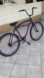 Bicicleta aro 26 semi novo em bom estado com documento