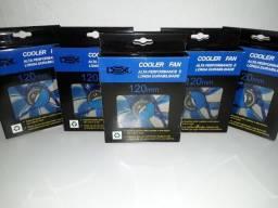 Cooler Fan Azul 120mm x 120mm LED Dex - Dx-12L