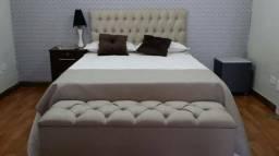 Conjunto cabeceira e baú pé de cama 399 reais