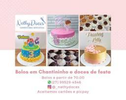 Bolos Chantininho e doces de festa em Vila Velha