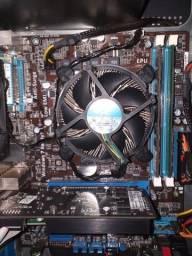 Kit placa-mãe + processador + memória ram + fonte