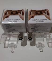 Kit Com 2 Pares de Gatilhos R1 L1 Para Jogos de Tiro Celular