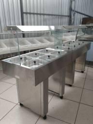 Carrinhos de buffet p/ restaurante Edanca, quente e frio usado Frete Grátis