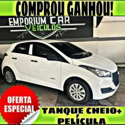 TANQUE CHEIO SO NA EMPORIUM CAR!!! HYUNDAI HB20 1.0 ANO 2019 COM MIL DE ENTRADA