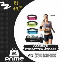 Pochete Esportiva Átomo com faixa refletiva