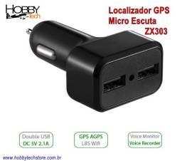 Micro Escuta Localizador Gps Carregador Usb Veícular