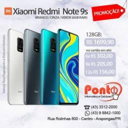 Xiaomi Redmi Note 9s 128GB 6GB Ram Novo