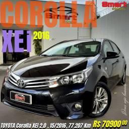 Smart Veículos - TOYOTA Corolla XEI 2.0 , 15/2016, 77.207 Km. R$ 70.900,00