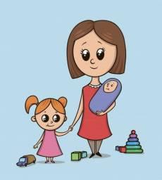 Babá de bebês e crianças