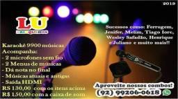 Aluguel de Karaoke, 9.900 músicas