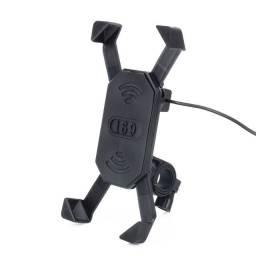 Suporte E Carregador Gps Celular Para Moto Fixar no Guidão