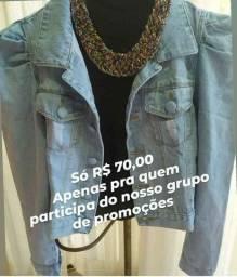 Jaqueta Jeans, Jaqueta manga princesa, jaqueta manga bufante, Preço de Fábrica