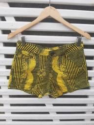 Short Jeans Amarelo - Tam P