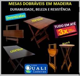 Grandes Marcas: Mesas Dobraveis em Madeira