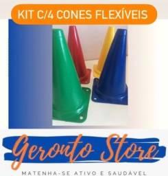 Título do anúncio: Cones flexíveis (kit c/4)
