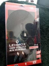 Cabo Hdmi 5 Metros 4k Ultra Hd 3D Blindado Com Revestimento Interno