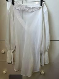 Blusa de crepe acetinado