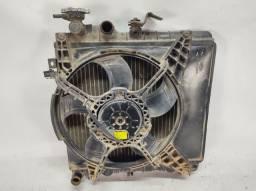 Kit radiador ventoinha Hyundai Atos prime 1998 1999 2000 sem ar condicionado