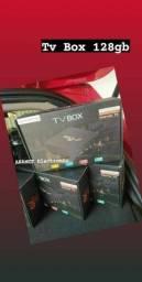 Tv box 128gb armazenamento