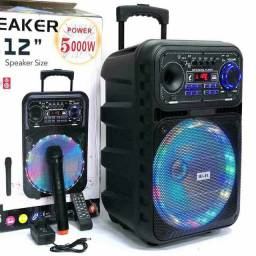 Caixa de Som Amplificada s/ fio + Controle +Microfone s/fio 5000W