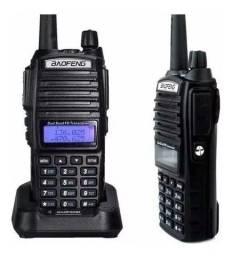 Kit 2 Rádio Comunicador Baofeng Ht Dual Band Uv-82 Bateria 5000mh 5w+ Fone