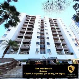 Título do anúncio: Alugo Apartamento nas Graças, 180 m², 03 quartos (01 suíte)