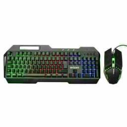 Kit teclado Gamer Gaming Premium Aoas M300 Luces Rgb Mouse e Teclado