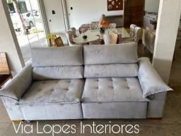 sofa com pilon retratil e reclinavel de 2.50ctm wpp 62 9  *