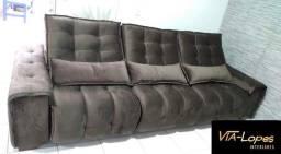 sofa barcelona griffe de 3m retratil e reclinavel wpp 62 9  *