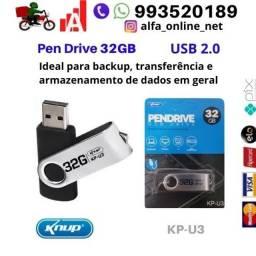 Pendrive 32gb Compartilhe fotos, filmes, músicas e dados Knup Kp-u3 Usb 2.0