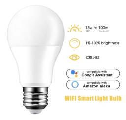 Lâmpada LED inteligente WIFI, Alexa, Google. Cor Branco 15w / equivale o brilho 100w