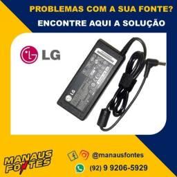 Fonte Carregador Notebook LG 19V Ponta Padrão! Mais Informações no WhatsApp.
