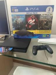 PlayStation 4 + controle + 3 jogos