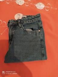 Calça jeans mom nova sem uso