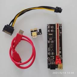 Riser 8 capacitores o melhor e mais seguro, envio imediato