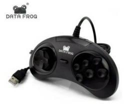 Título do anúncio: Controle Usb Data Frog Mega Drive Pc Raspberry Pi