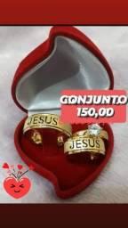ALIANÇAS com NOME JESUS VASADO