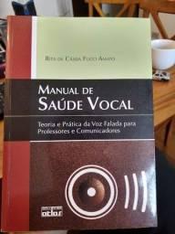 Livro seminovo Manual de Saúde Vocal - Rita de Cássia Fucci Amato