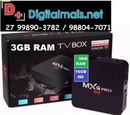 Tv Box Smartv 16gb E 3gb Ram Com Android 8.1 Mx 4k Pro