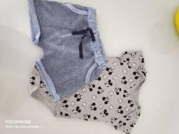 Body e short bebê