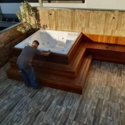 Banheira Spa com Deck para sua área de Lazer