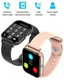"Smartwatch P8 pro Max, tela 1,75"" faz e recebe chamadas"