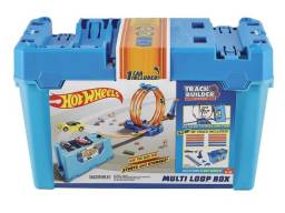 Pista Hot Wheels - Track Builder System Multi Loop Box