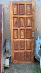 Porta de madeira + cachonete + fechadura com chave