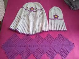 vendo conjunto de crochê para cozinha