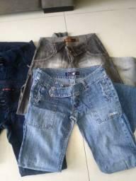 Lote de calça jeans. Número 38 e 40