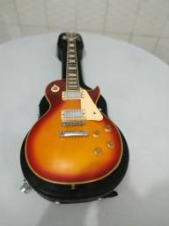 Guitarra Les Paul+Case+Cabo+Alça+Palhetas