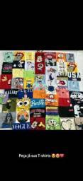 Blusas T-shirts 100% algodão